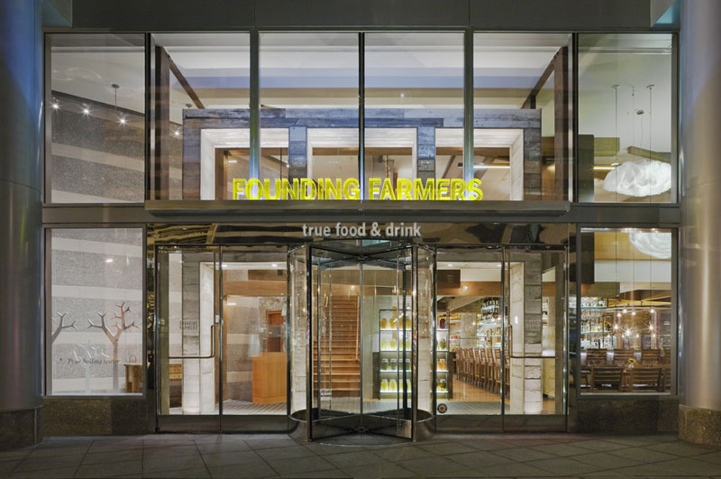 Founding Farmers restaurant in Washington, DC - LEED-certified dining venue in Washington, DC