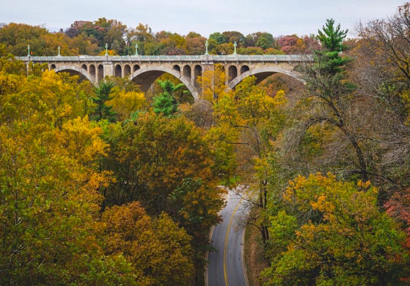 @hsb_pov - Fall Foliage Overlooking Rock Creek Parkway & Taft Bridge - Washington, DC