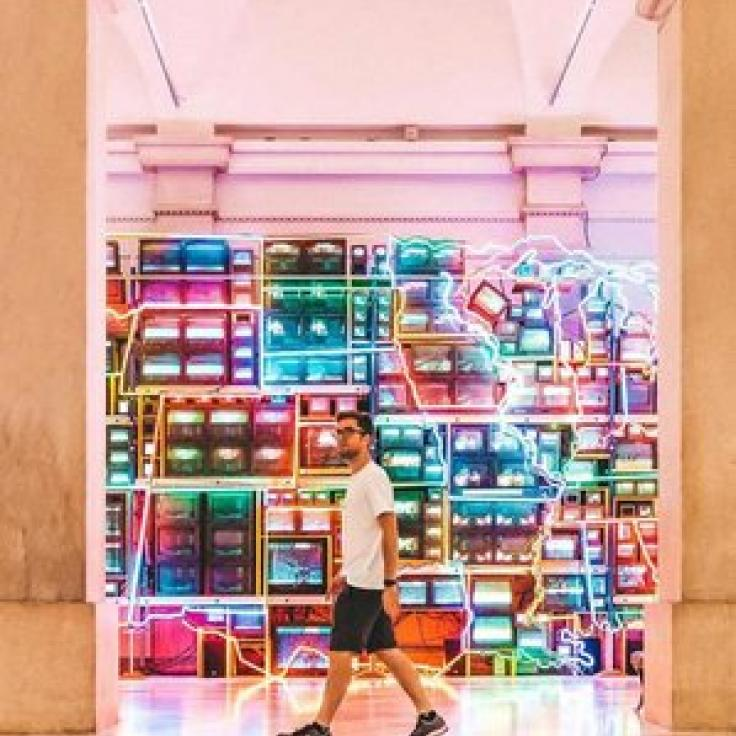 @discoverwithblake - Electronic Superhighway at the Smithsonian American Art Museum - Free museum in Washington, DC