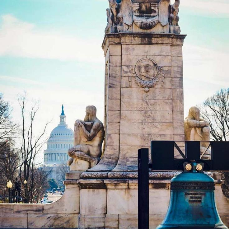 @jerseybeanstateside - View of the United States Capitol dome from Union Station in Washington, DC