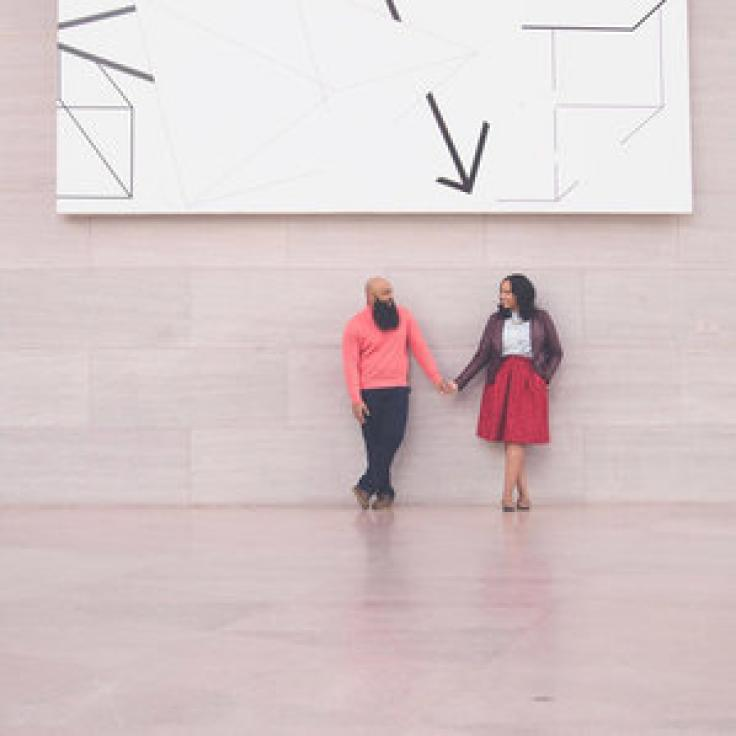 @leanilaphotos - Couple at the National Gallery of Art East Building on the National Mall - Free Modern Art Museum in Washington, DC