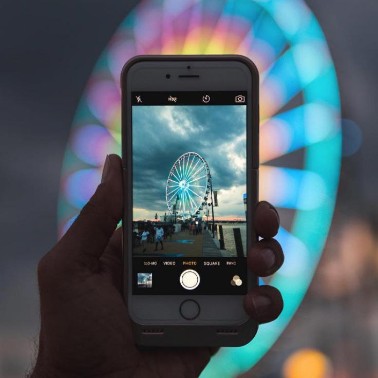 @lu8cho - Photo of a photo of the Capital Wheel - National Harbor in Maryland