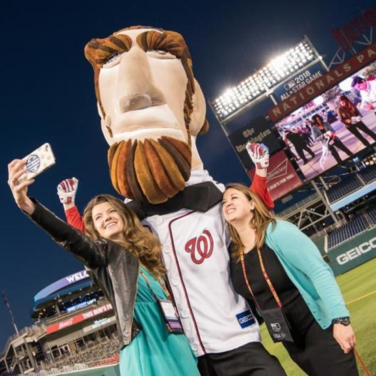 Selfie with President Lincoln at Nationals Park - Meetings and Conventions in Washington, DC
