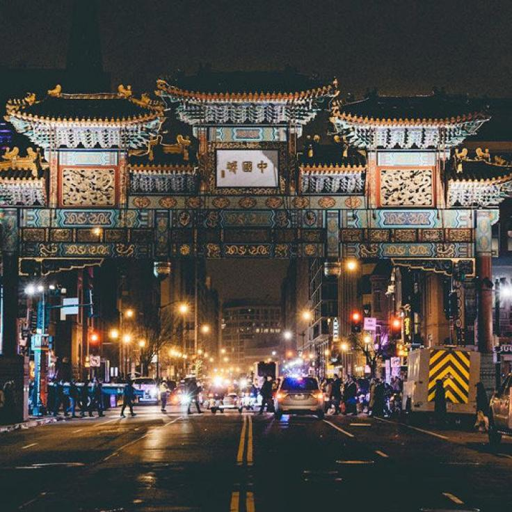 @turn_it_up - Gallery Place Chinatown Friendship Arch at night - Washington, DC