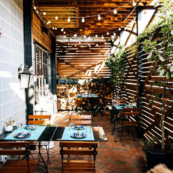 @thedabneydc - outdoor dining patio at the Dabney