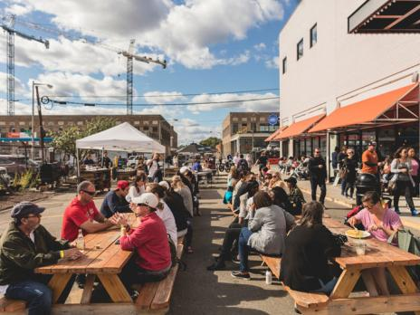 Outdoor dining at Union Market in NoMa - Food hall in Washington, DC