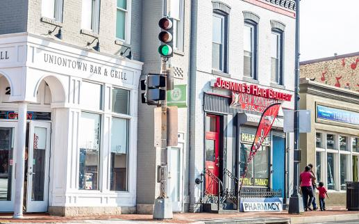 Anacostia restaurant and shops in Washington DC