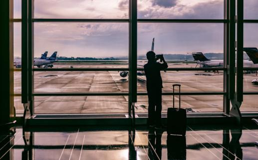 Airline passenger at Ronald Reagan Washington National Airport - Airports in the Washington, DC region