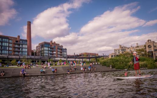 Standup paddling on the Potomac River in Georgetown - Things to do on the Georgetown Waterfront in Washington, DC