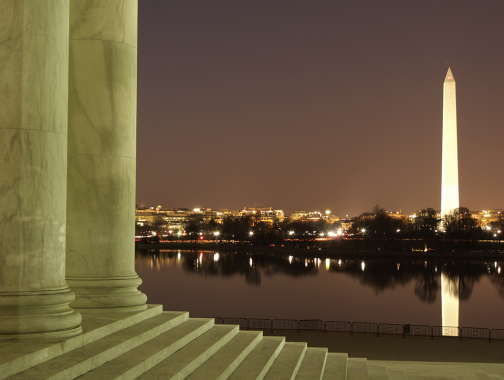 National Monument from steps of Jefferson Memorial