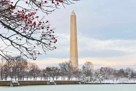 Washington Monument from the Tidal Basin in Winter