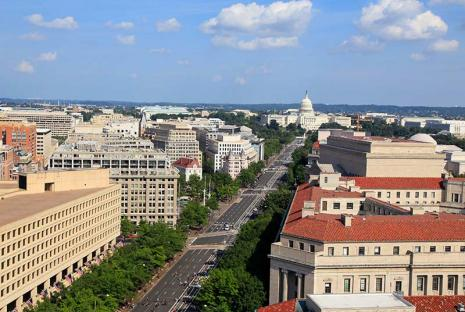 Pennsylvania Avenue aerial photo in Washington, DC